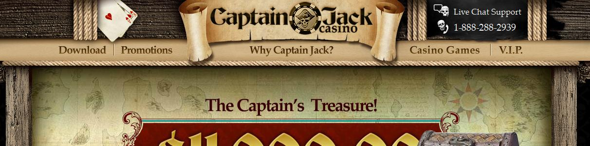 Captain Jack Casino - US Players Accepted!